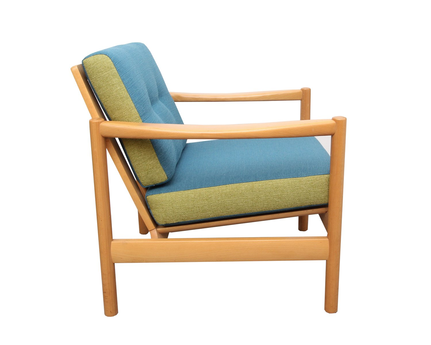 Sessel in Blau & Hellgrün, 1960er