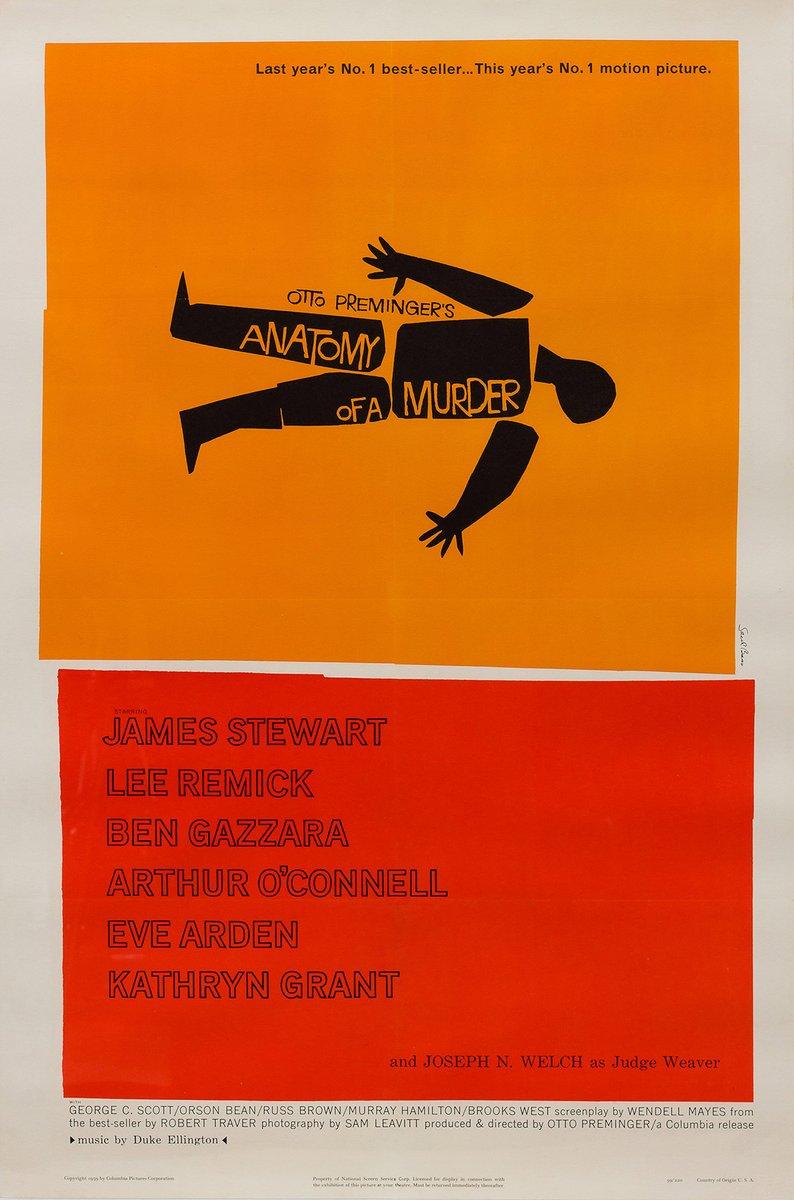 Amerikanisches Vintage Anatomie eines Mordes Filmplakat von Saul ...