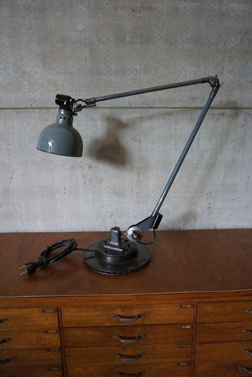 Industrielle Deutsche Tischlampe von Ernst Rademacher, 1930er
