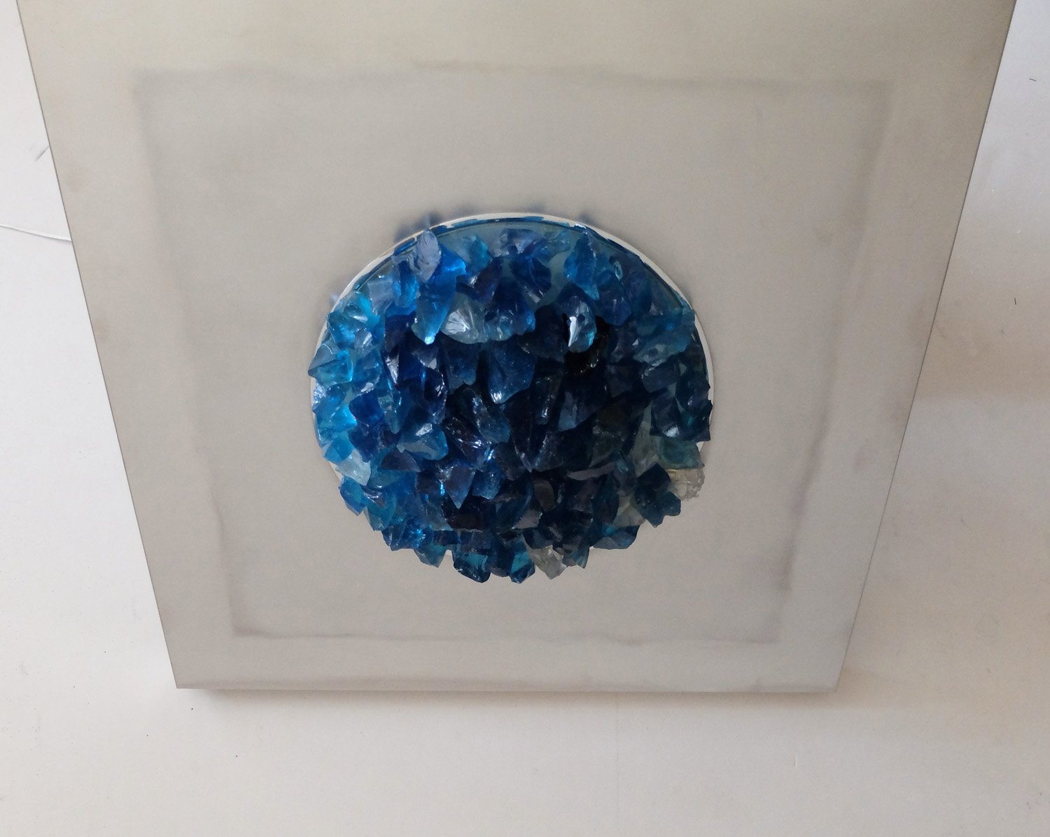 Italian Ocean Blue Wall Sconce By Angelo Brotto For Espria 1974