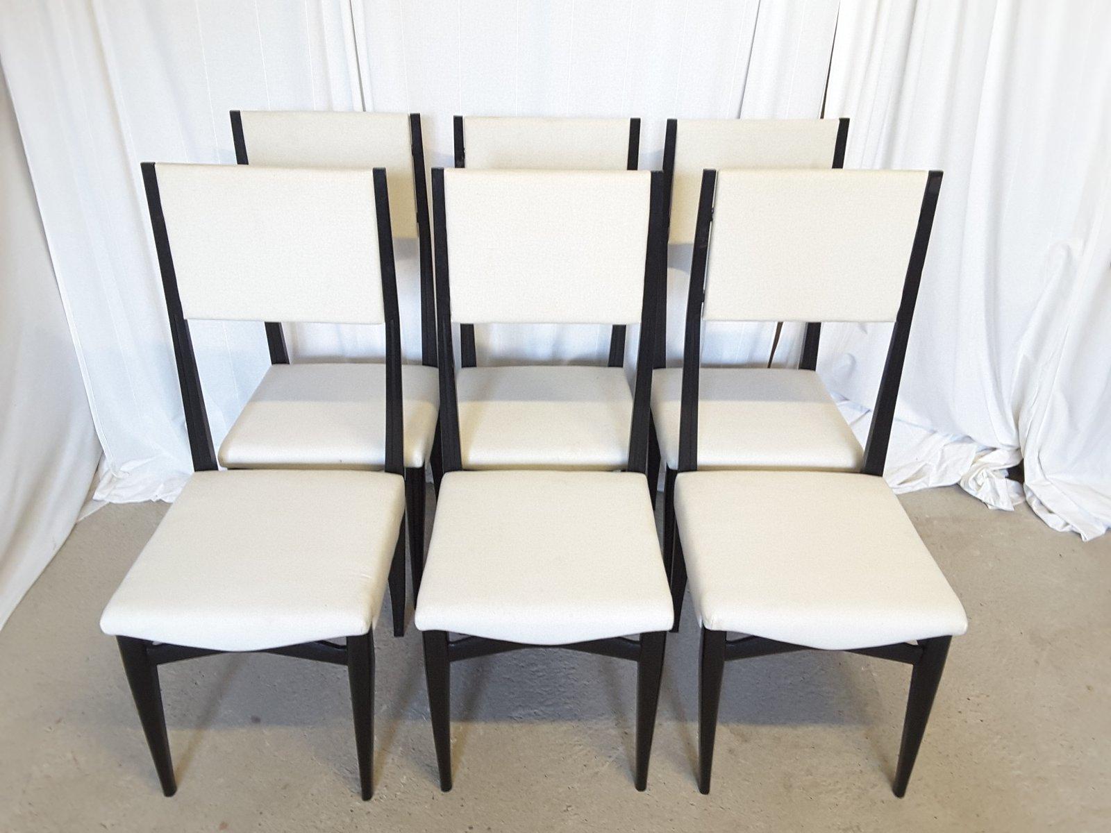 Sedie Schienale Alto Design : Sedie da pranzo con schienale alto italia anni set di in
