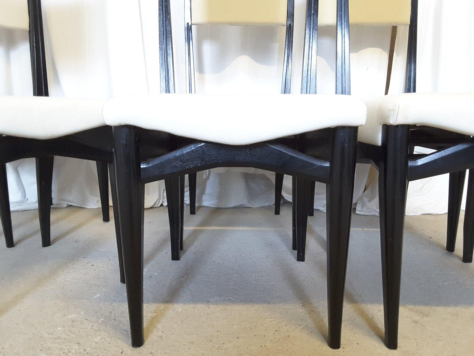 Sillas de comedor italianas con respaldo alto a os 50 for Precio juego de comedor con 6 sillas