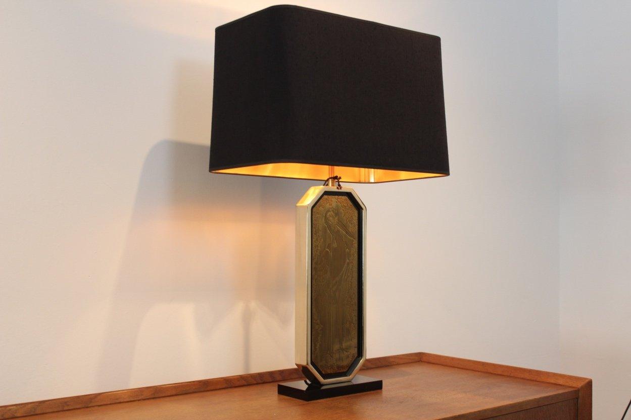 lampe de bureau artisanale plaqu or 23 carat par georges mathias pour m2000 design 1970s en. Black Bedroom Furniture Sets. Home Design Ideas