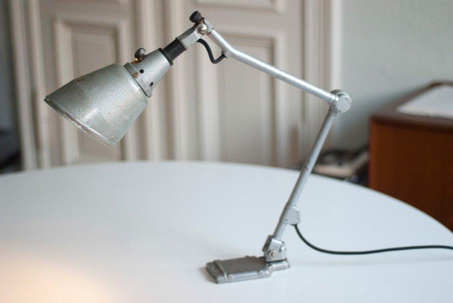 Deutsche Vintage 145 Uhrmacher Tischlampe von Curt Fischer für Midgard