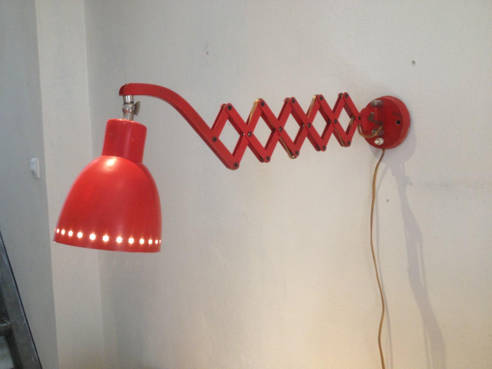 Niederländische Scheren Wandlampe von H. Th. J. A. Busquet für Hala, 1...
