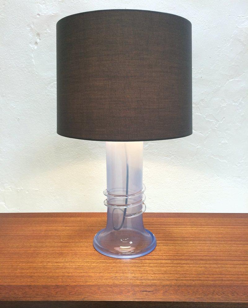 lampe de bureau en verre par hannelore dreutler pour studio hus su de 1980s en vente sur pamono. Black Bedroom Furniture Sets. Home Design Ideas