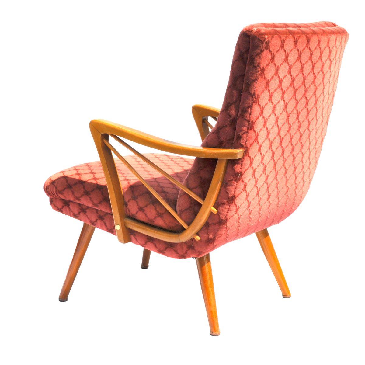 fauteuil cocktail vintage en mohair en vente sur pamono. Black Bedroom Furniture Sets. Home Design Ideas