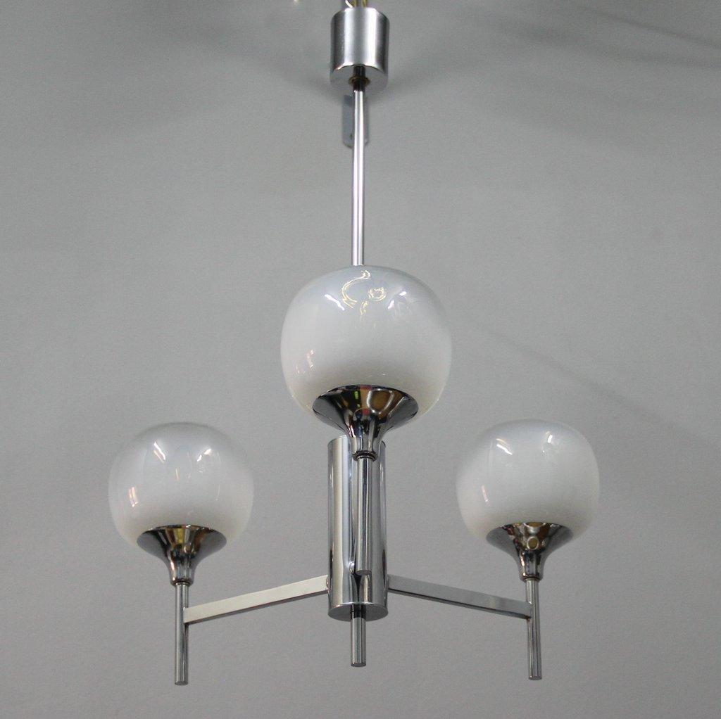 Französische Murano Glas Deckenlampe, 1970er