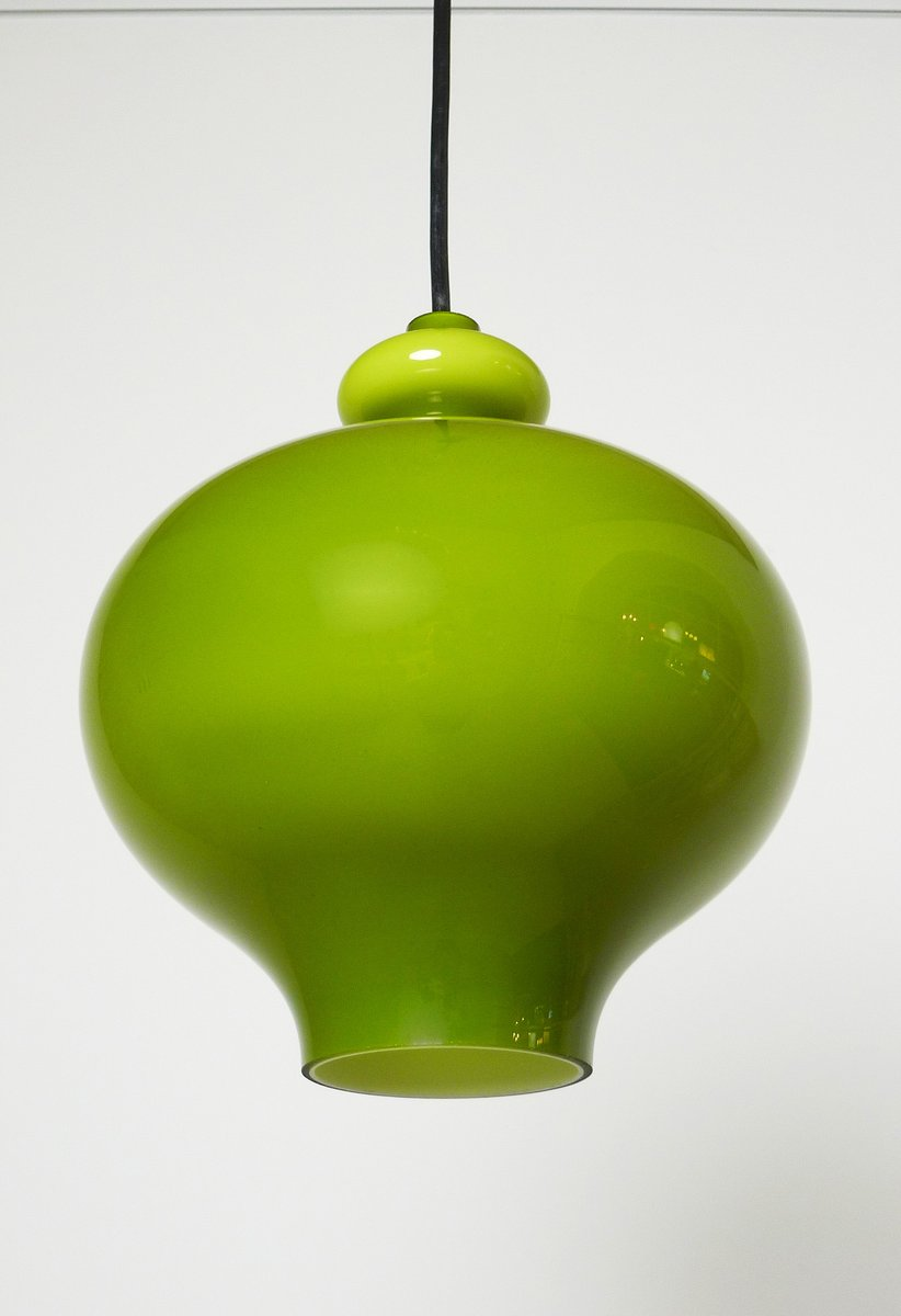 German Green Handblown Glass Pendant Lamp From Staff 1960s For Sale At Pamono