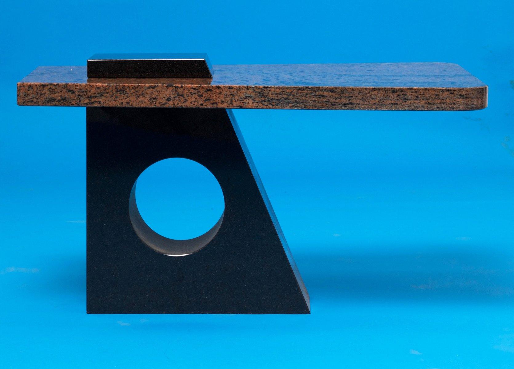 Table Bigarrée en Marbre Rose et Noir, France, 1980s en vente sur Pamono eb77e375e2c1