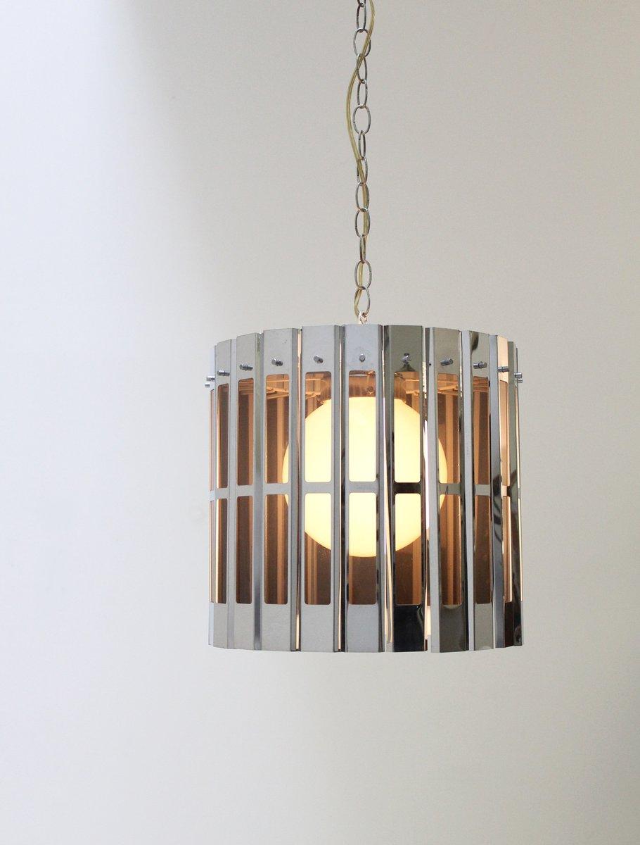 Verchromte Deckenlampe in Käfig Optik