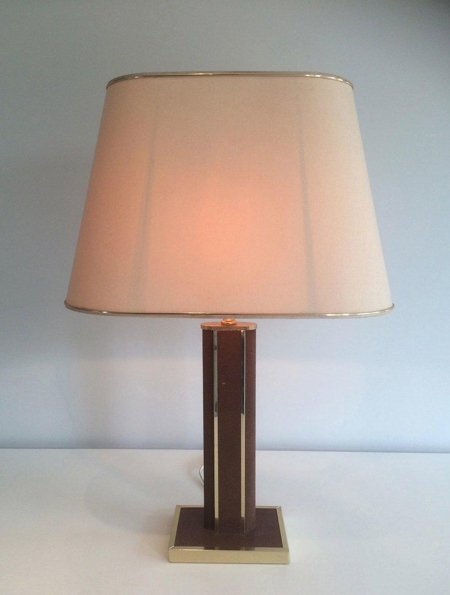 Tischlampe mit Holzgestell