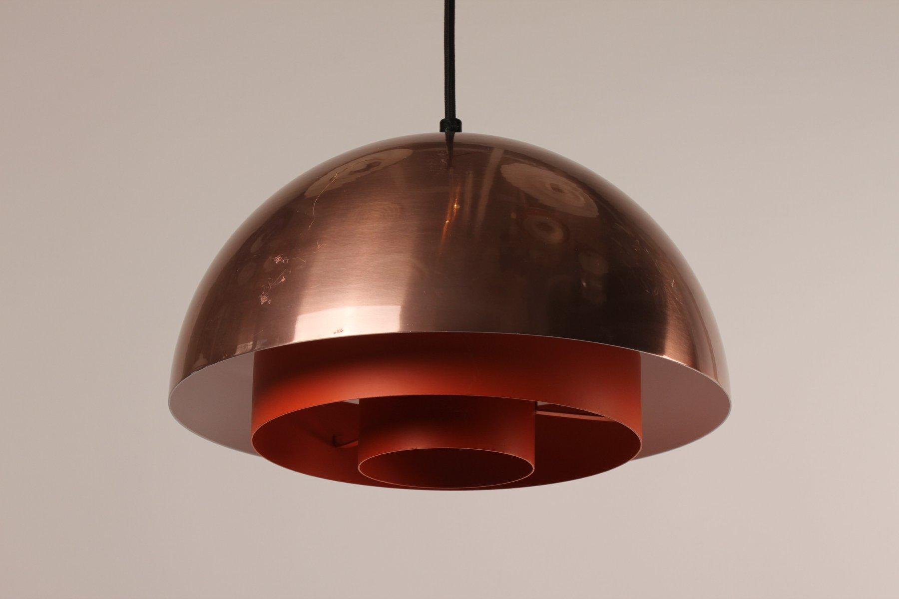 d nische milieu lampe aus kupfer von jo hammerborg f r lyfa 1970er bei pamono kaufen. Black Bedroom Furniture Sets. Home Design Ideas