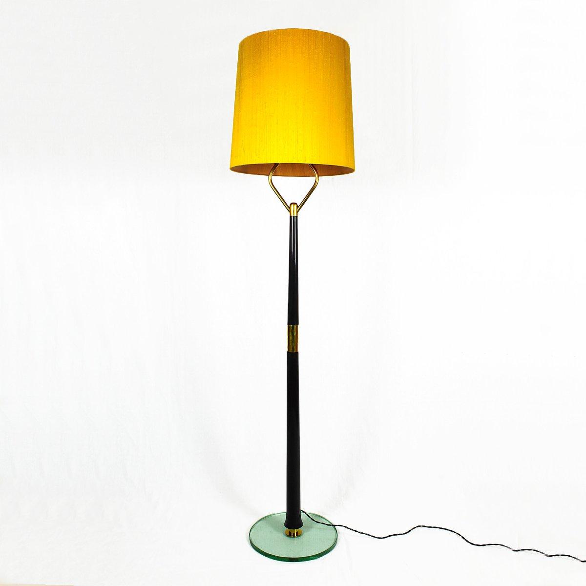 Italienische Mahagoni Stehlampe, 1940er