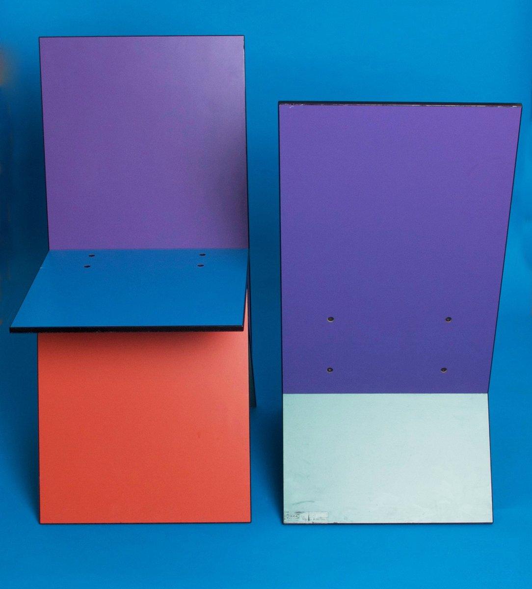 Vilbert Stühle Von Verner Panton Für Ikea 1993 2er Set