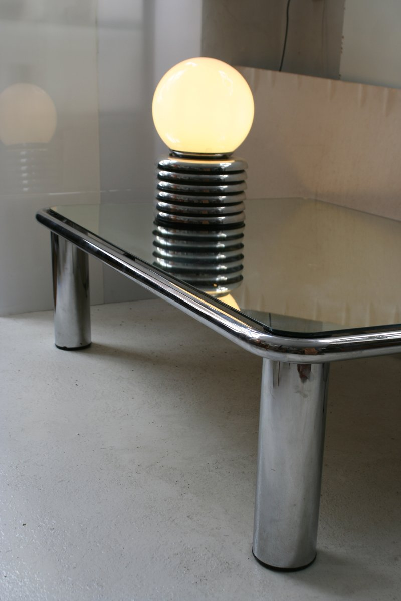 table basse miroir par mario bellini pour c b italia en vente sur pamono. Black Bedroom Furniture Sets. Home Design Ideas