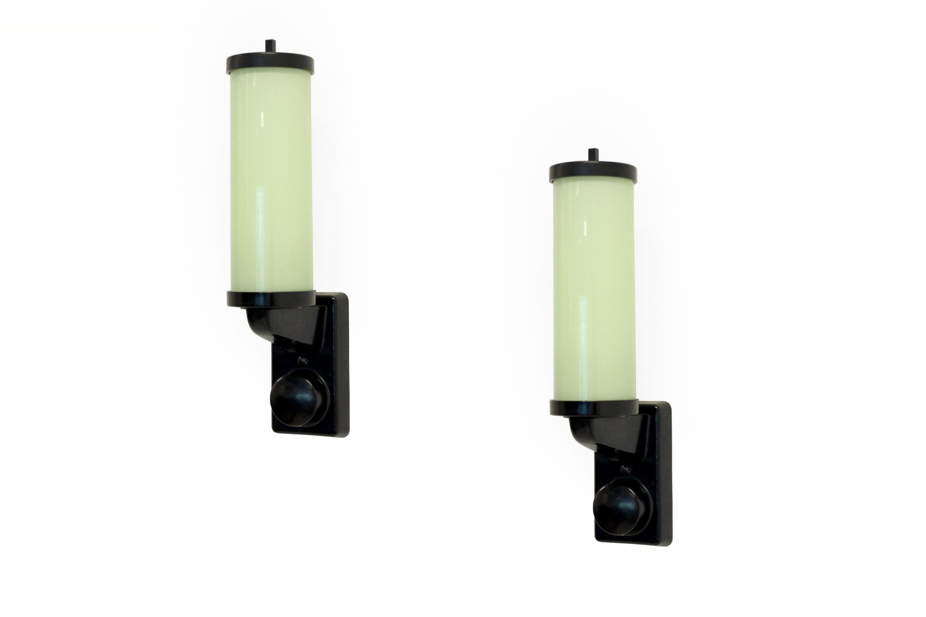 Funktionalistische Norwegische Wandlampen, 1950er, 2er Set