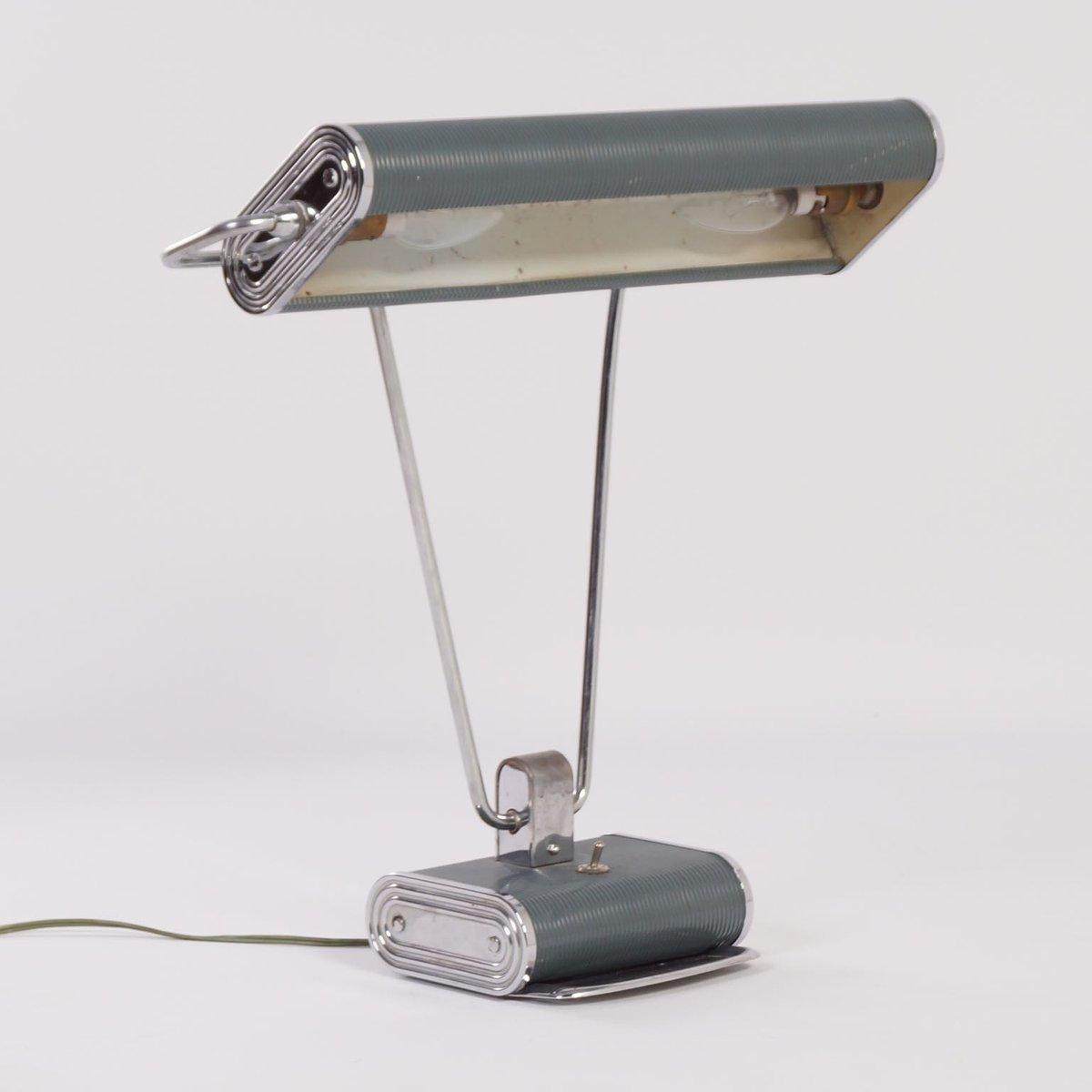 lampe de bureau art d co par eileen gray pour jumo 1930s en vente sur pamono. Black Bedroom Furniture Sets. Home Design Ideas