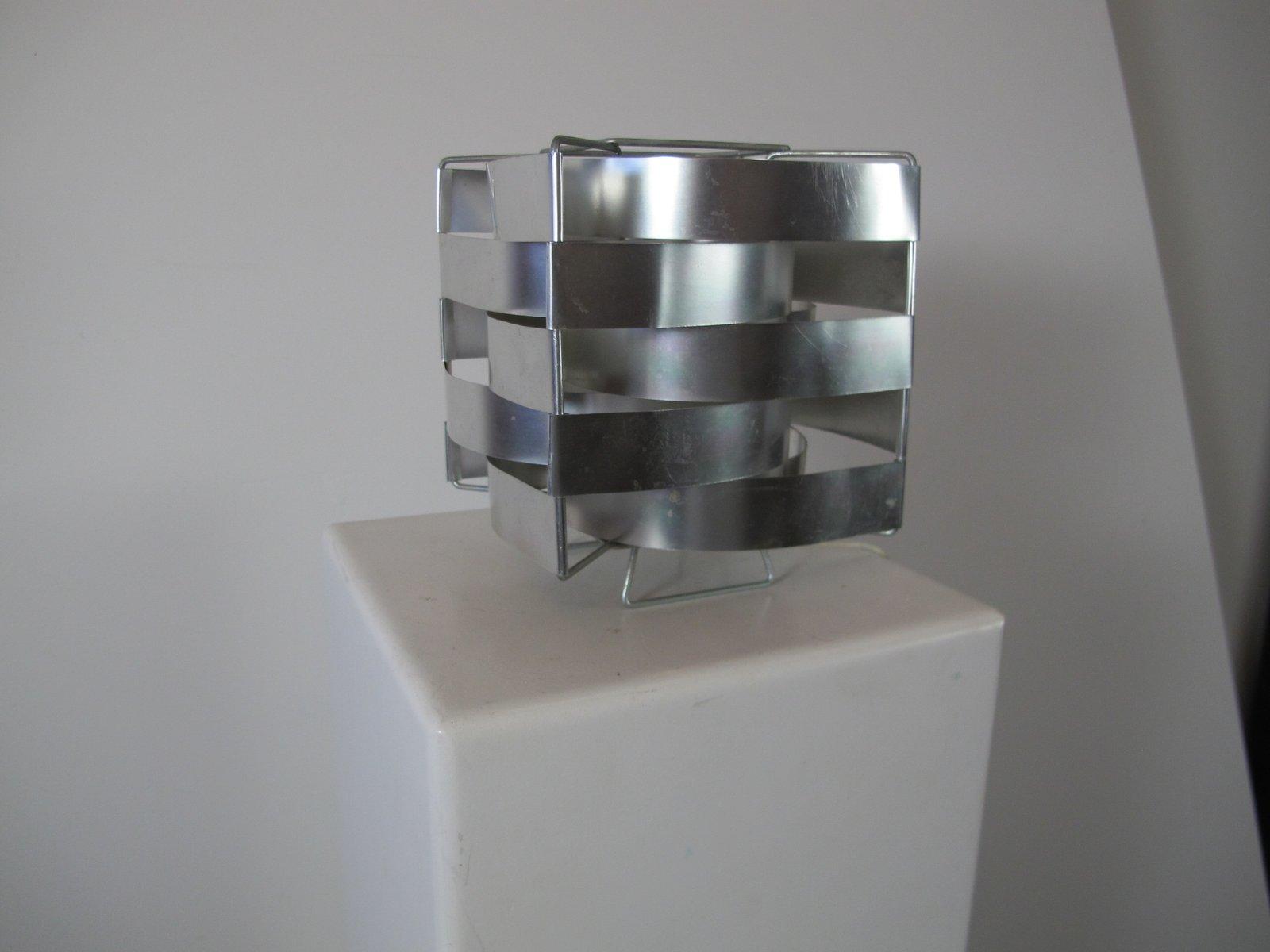 Lampe de bureau en aluminium par max sauze france 1960s en vente
