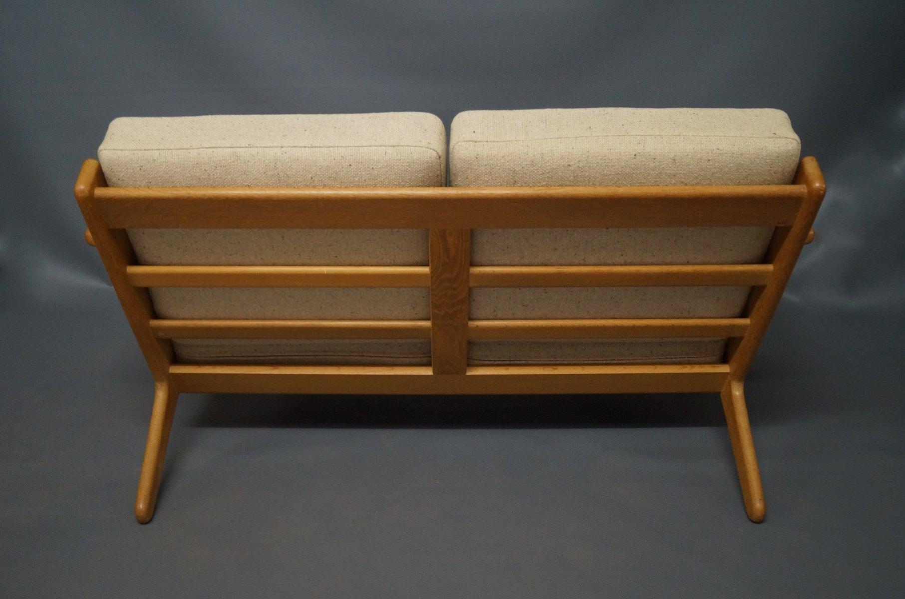 ge 290 zwei sitzer sofa von hans j wegner f r getama 1960er bei pamono kaufen. Black Bedroom Furniture Sets. Home Design Ideas