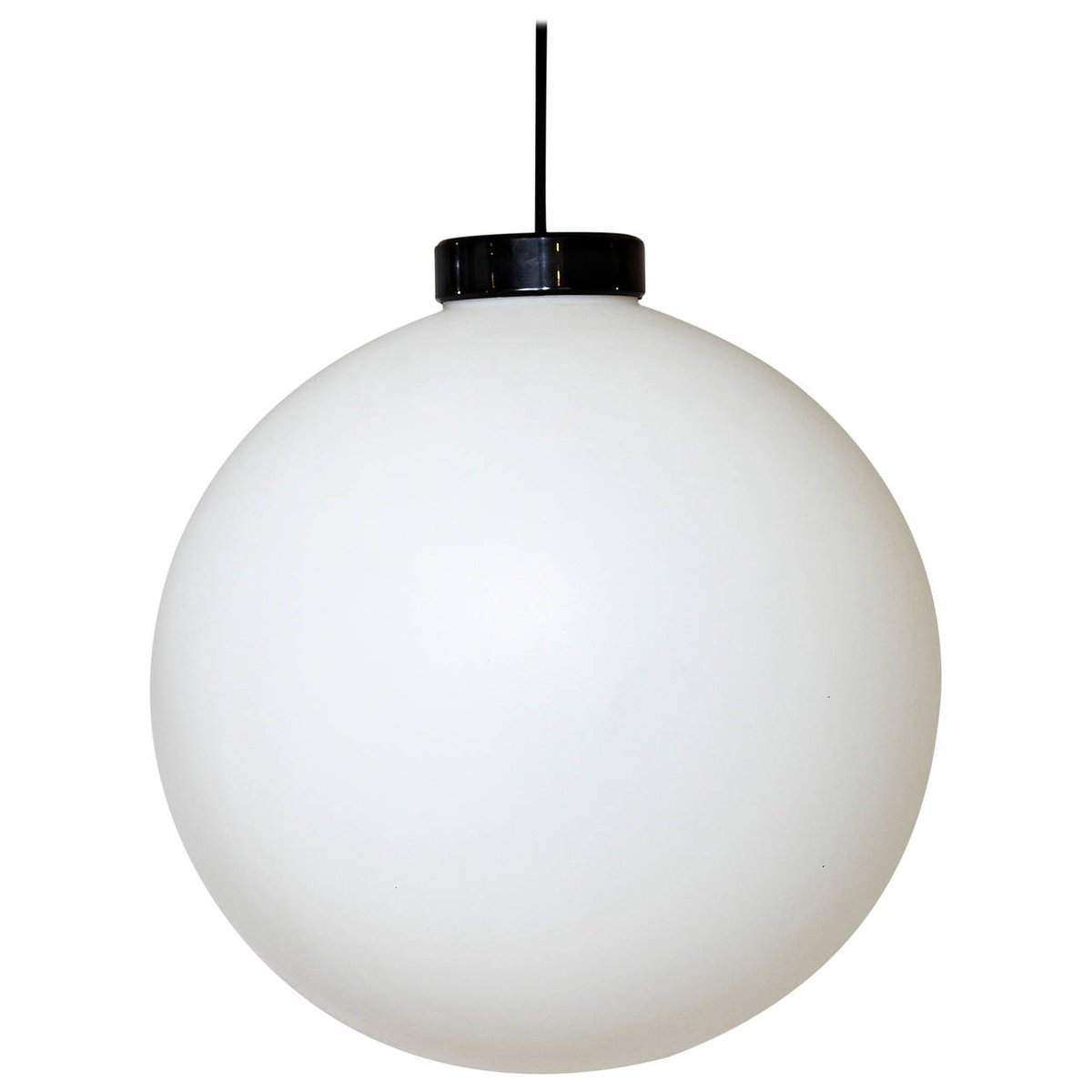 Weiße Kunststoff Deckenlampe von Miguel Milá für Tramo, 1950er