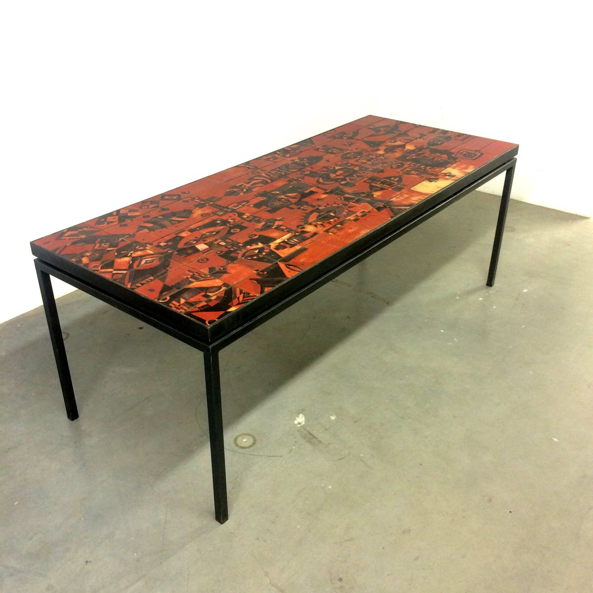 Handmade Dining Table With Tile Top By Wilhelm And Elly Kuch 1967