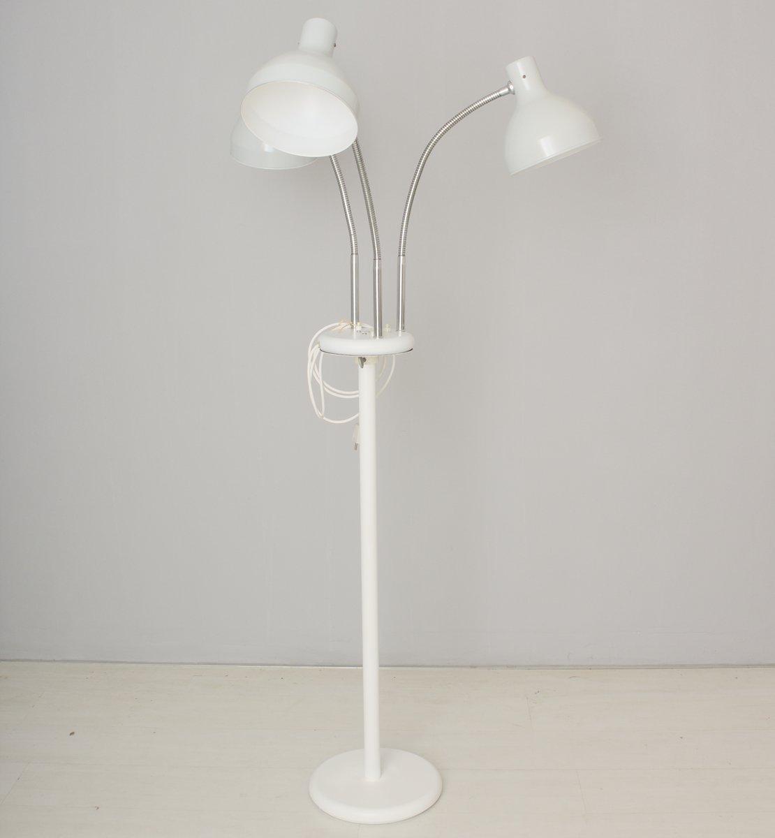 Vintage Arzt Stehlampe mit Drei Leuchten