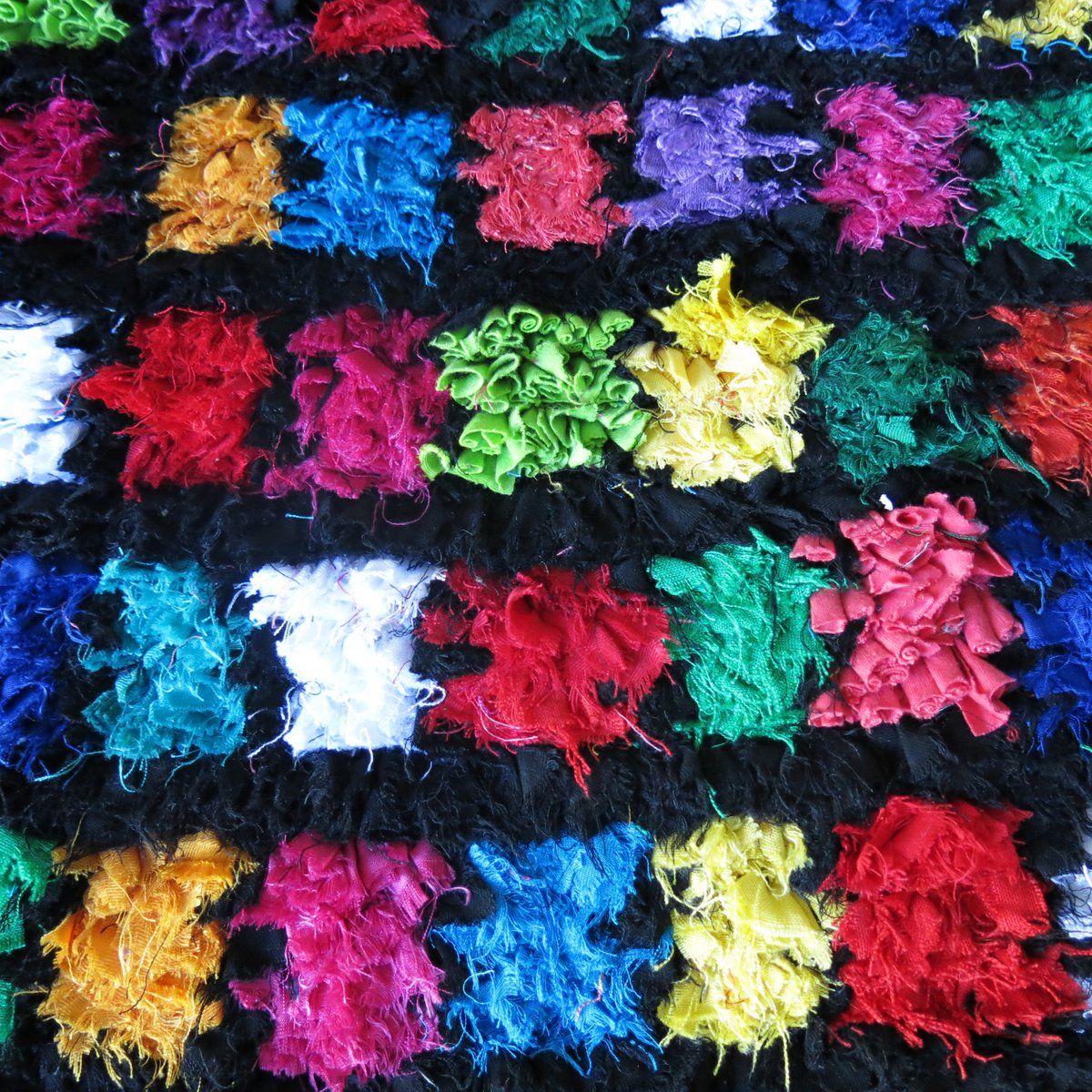 Petit Tapis Boucherouite Multicolore Maroc 1990s En Vente Sur Pamono