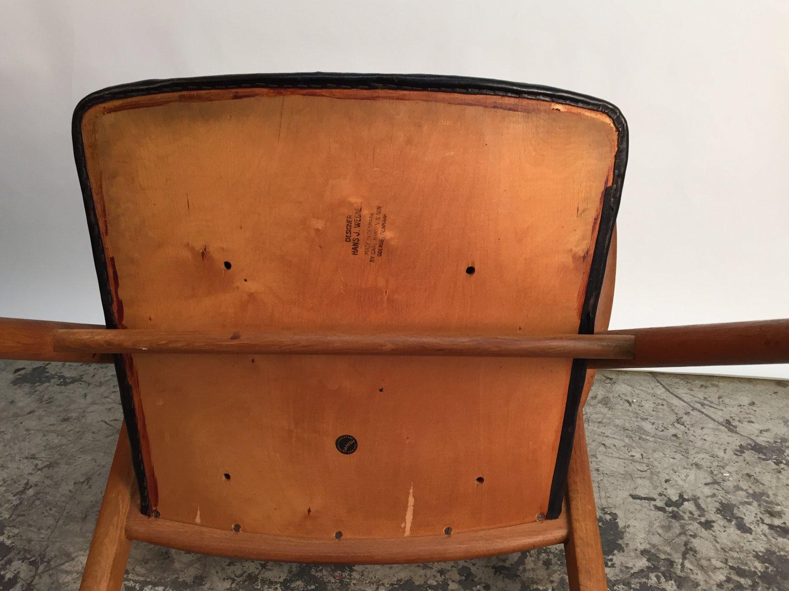d nischer ch28 s gebock stuhl von hans j wegner f r carl hansen son 1950er bei pamono kaufen. Black Bedroom Furniture Sets. Home Design Ideas