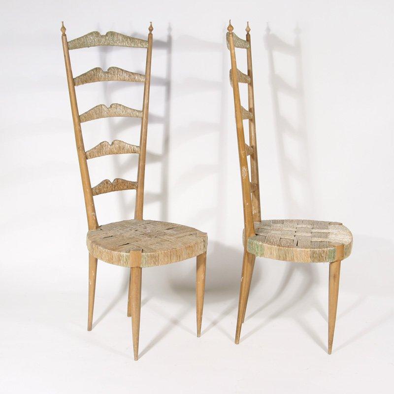 Sedie con schienale alto di Paolo Buffa, anni \'50, set di 2 in ...