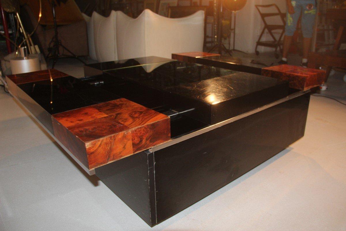 table basse avec bar italie 1970s en vente sur pamono. Black Bedroom Furniture Sets. Home Design Ideas