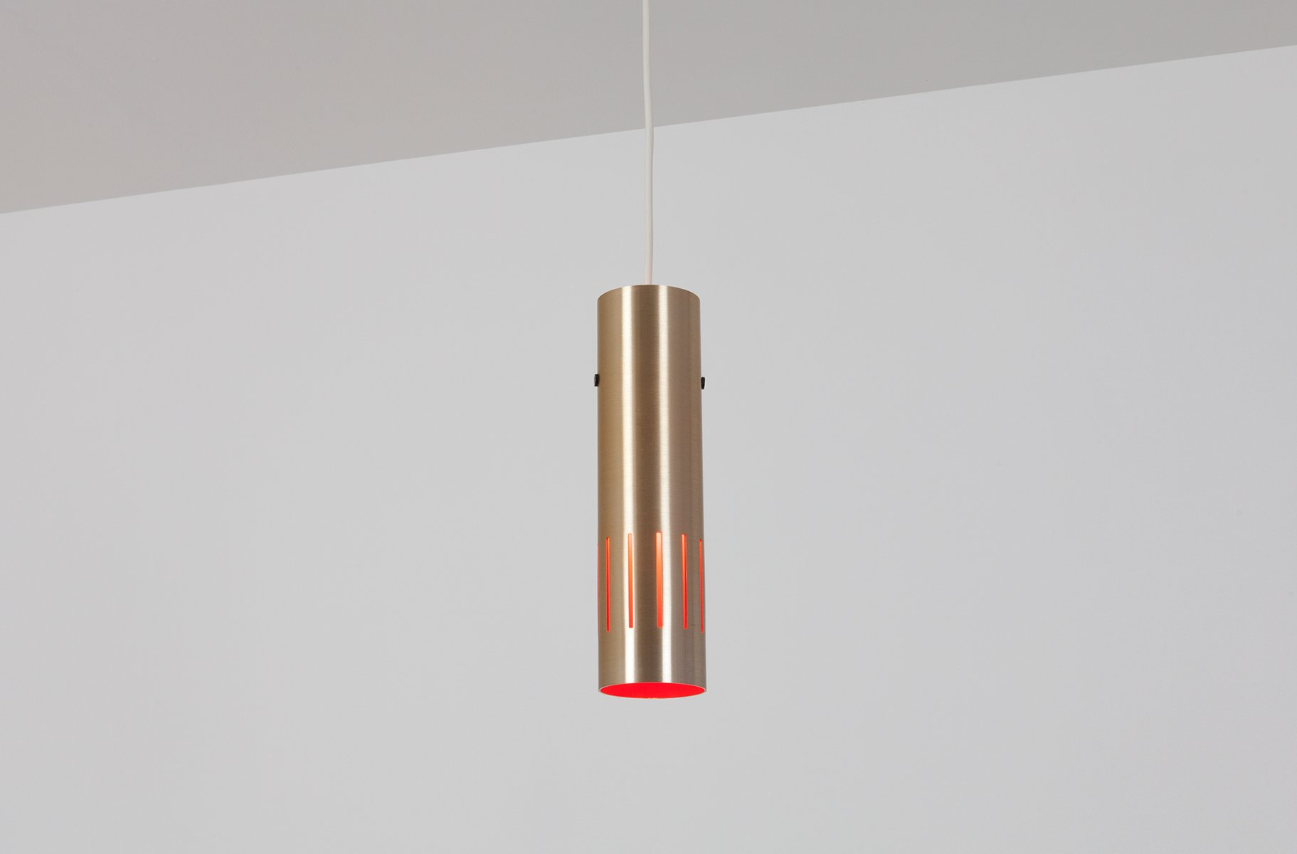 Dänische Lampe in Posaune Optik, 1960er