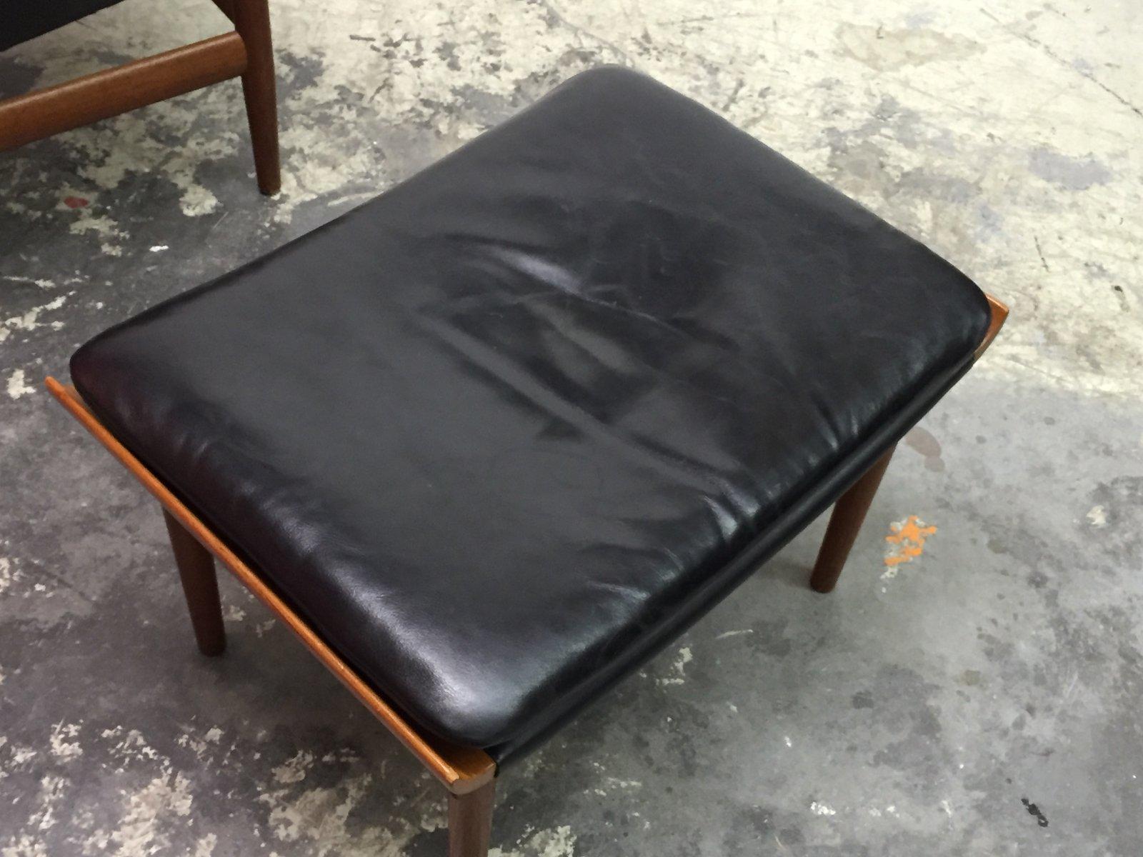 d nischer bwana stuhl mit ottoman von finn juhl f r france son 1960er 2er set bei pamono kaufen. Black Bedroom Furniture Sets. Home Design Ideas