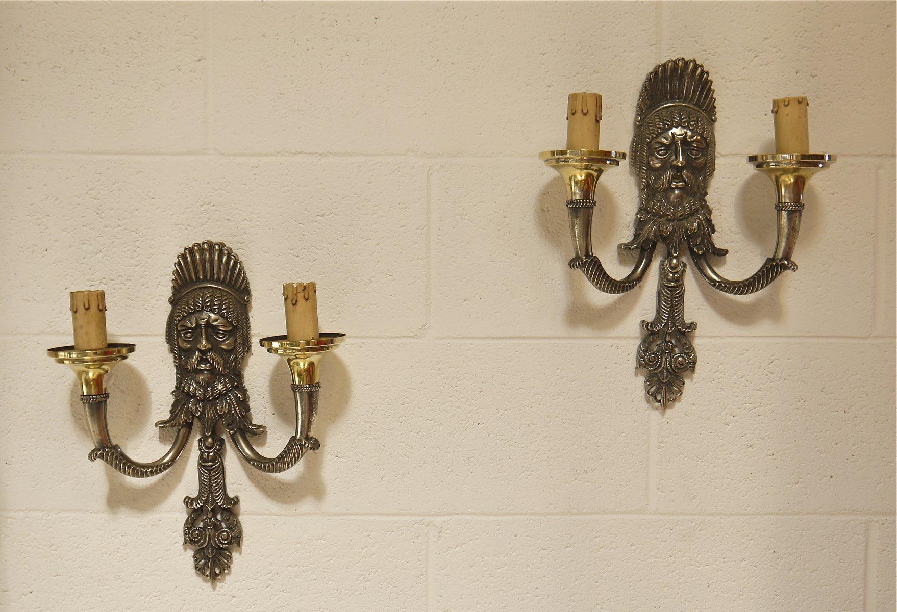 Italienische Wandlampen von Reggiani, 1950er, 2er Set