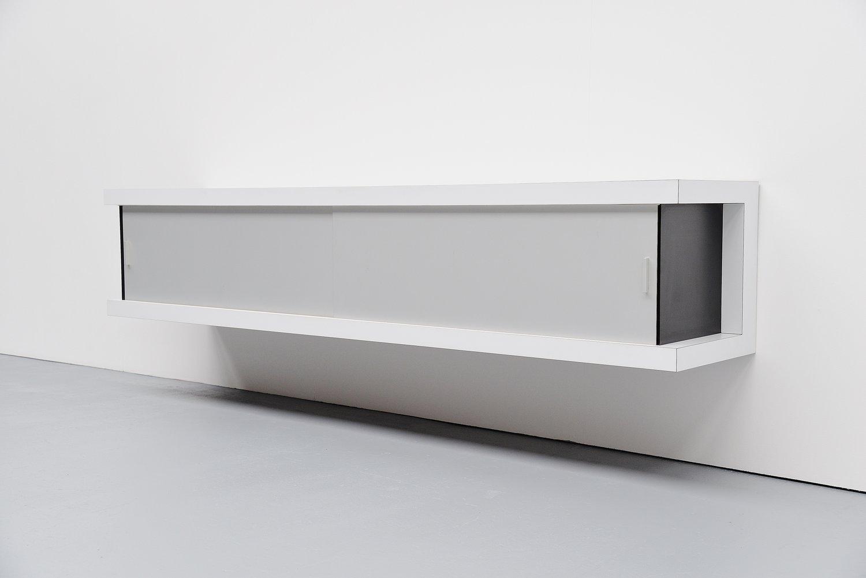 Deutsches Schwebendes Weißes Sideboard von Horst Brüning für Behr, 196...