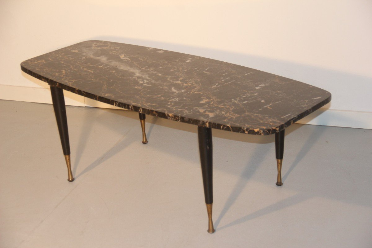 Italian Marble Brass Coffee Table For Sale At Pamono - Marble and brass end table