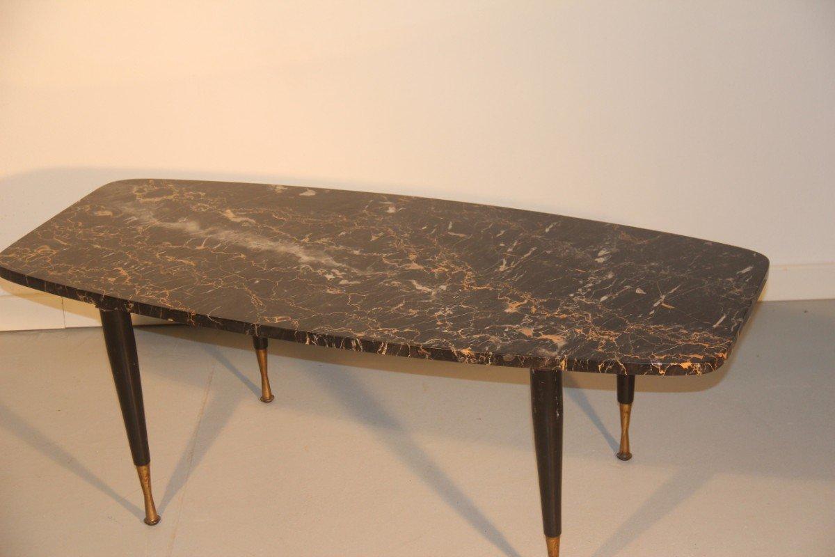 table basse en marbre et en laiton italie 1950 en vente sur pamono. Black Bedroom Furniture Sets. Home Design Ideas