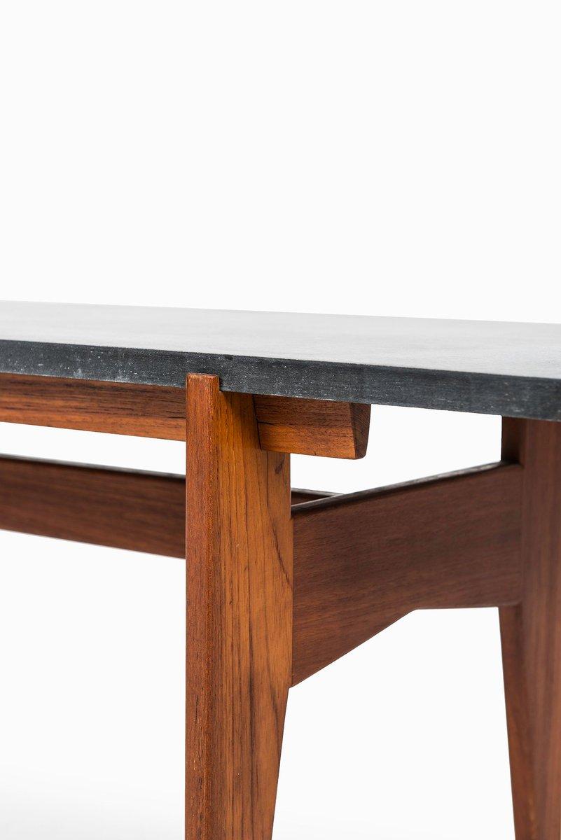 Swedish Teak Black Granite Coffee Table From Hans Agne Jakobsson 1960s