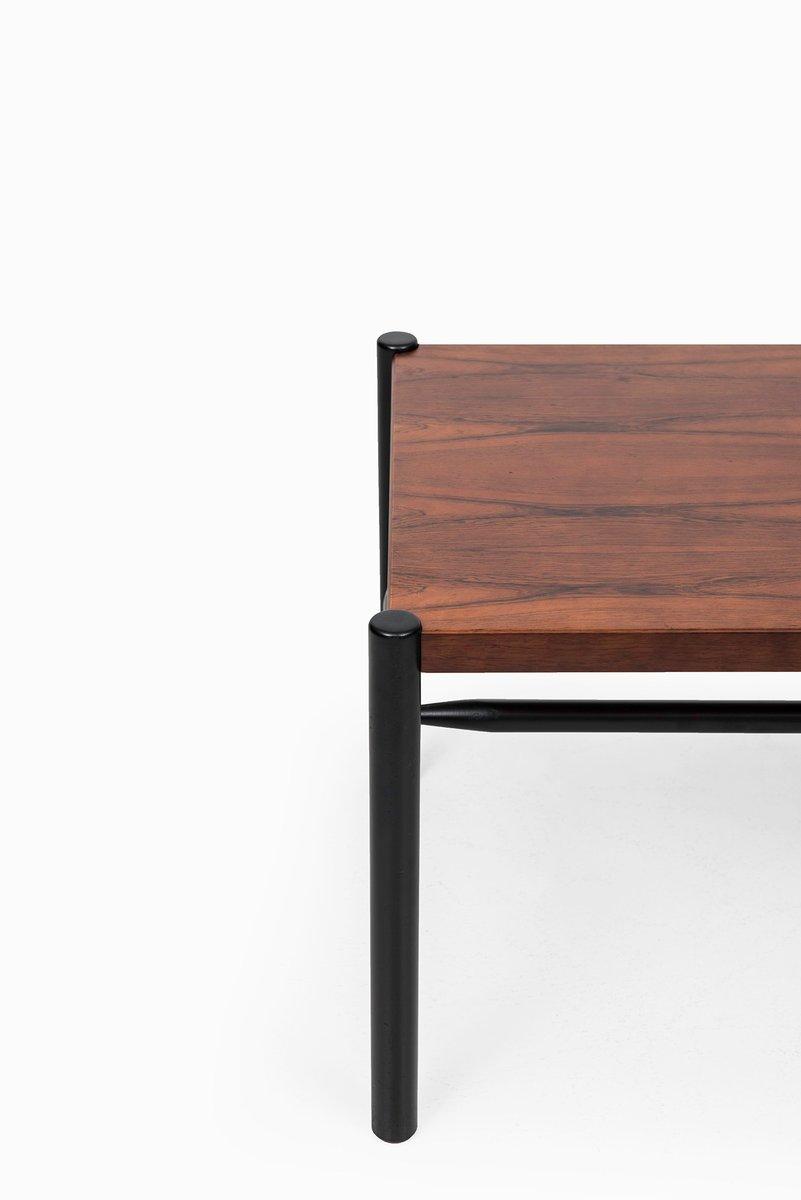 schwedischer couchtisch aus palisander schwarz lackiertem holz von arne norell f r arne norell. Black Bedroom Furniture Sets. Home Design Ideas