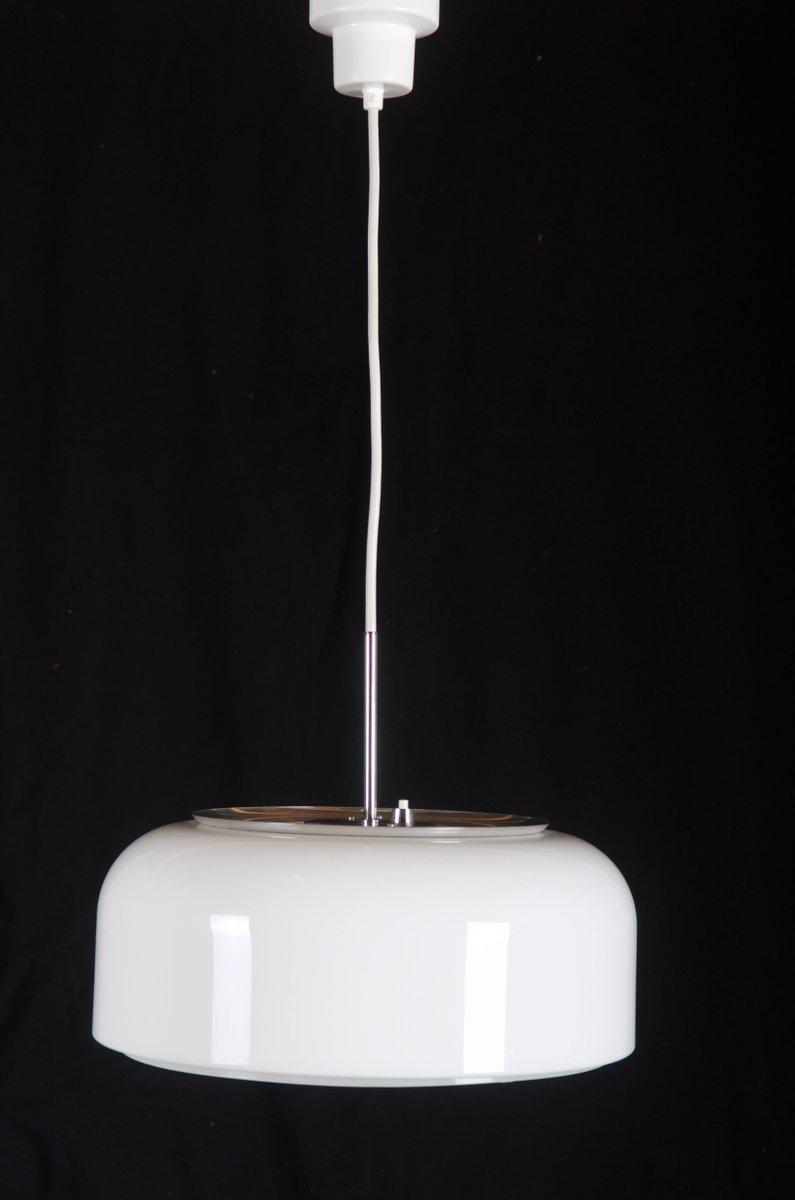 Weiße Hängelampe von Anders Pehrson für Ateljé Lyktan, 1970er
