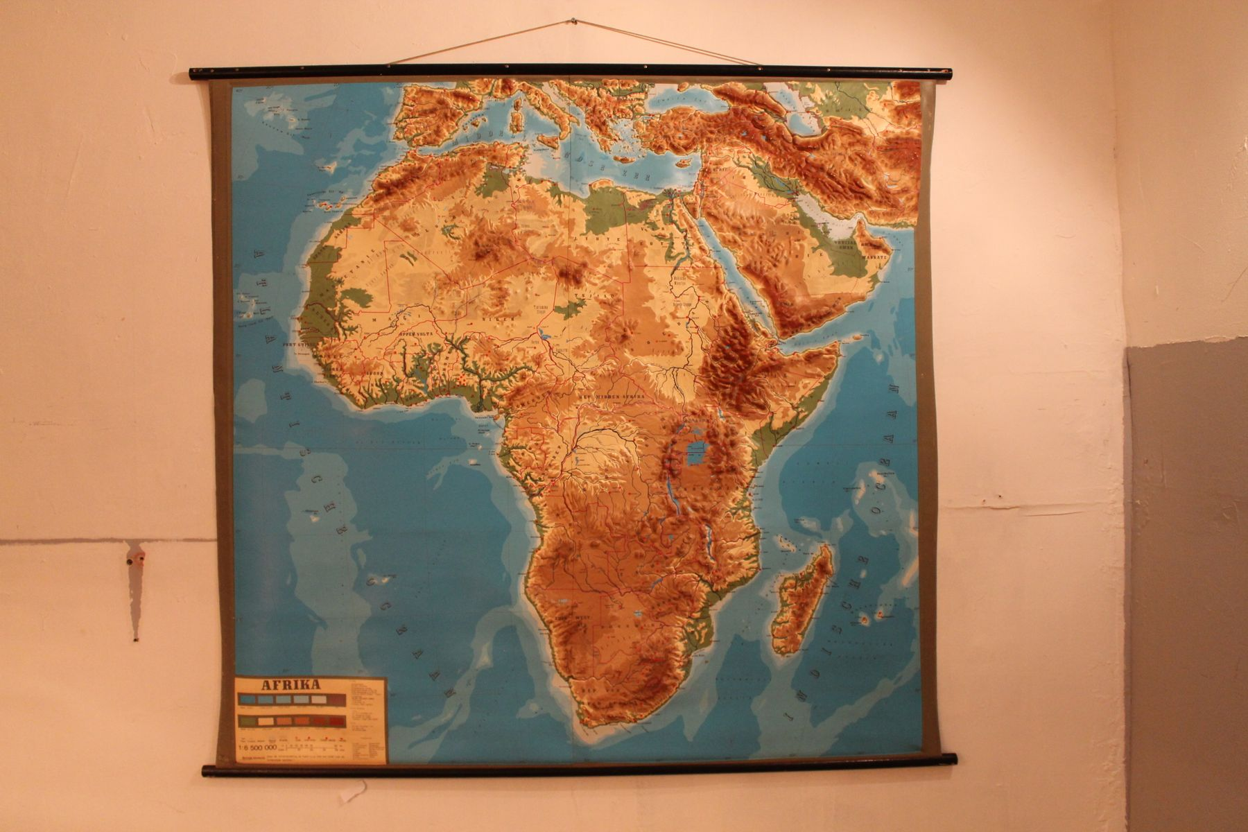 Vintage Relief Wall Map Africa 1960s For Sale At Pamono