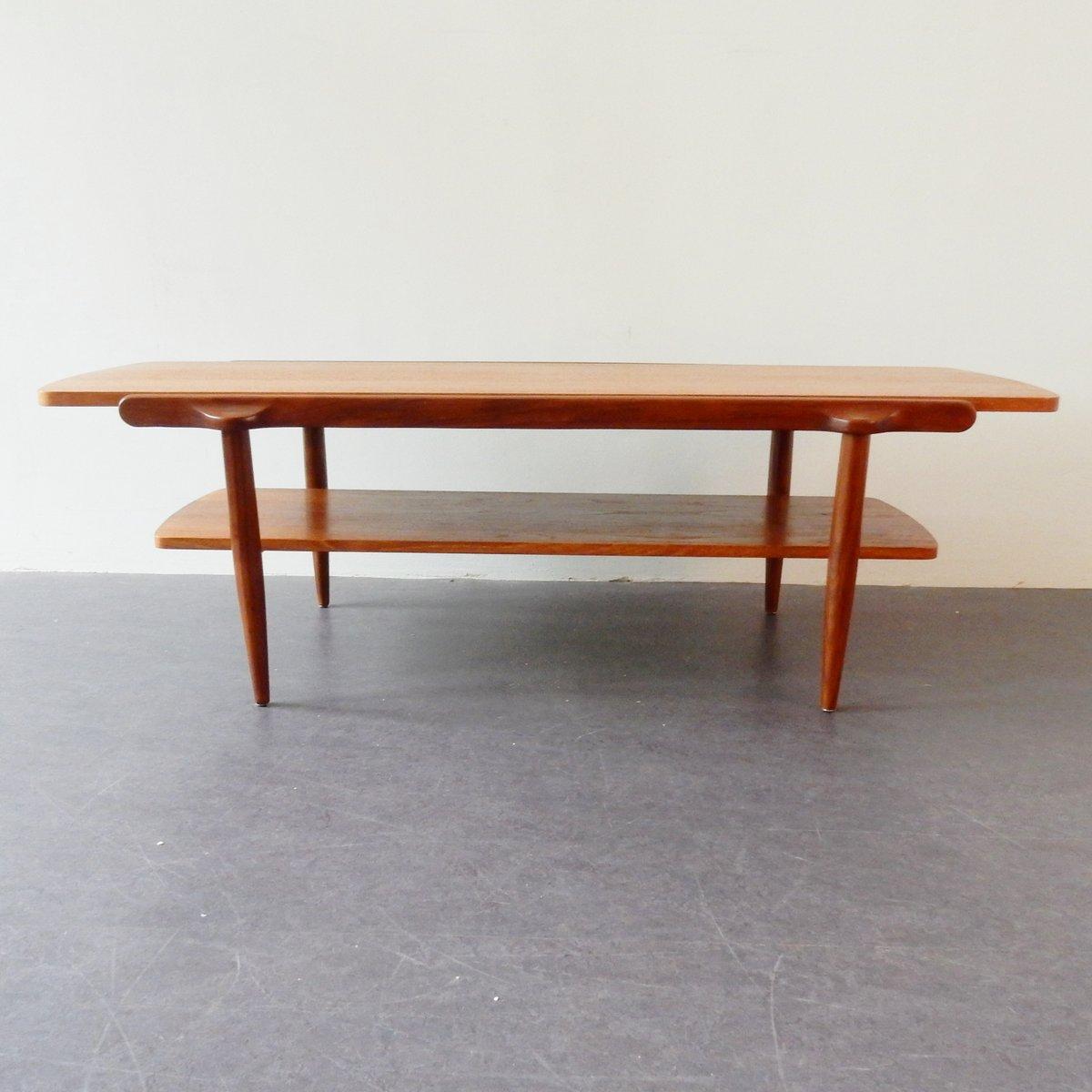 Teak Couchtisch mit Doppelseitiger Tischplatte,...
