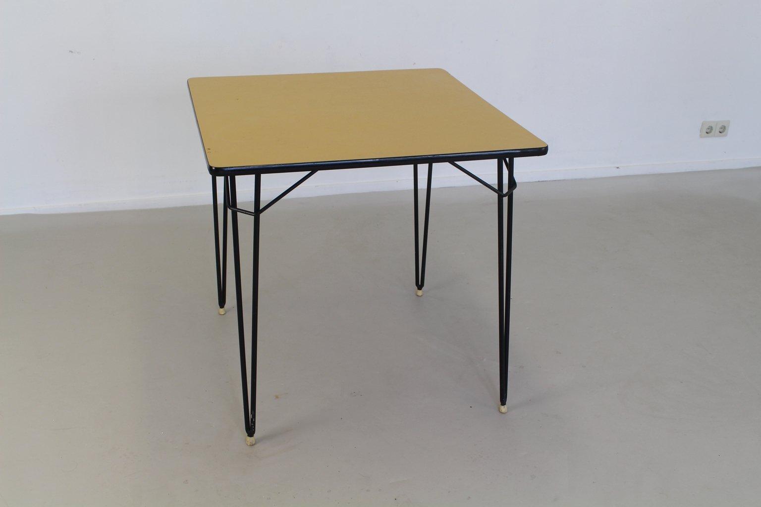 table de cuisine en formica et en m tal pays bas 1965 en. Black Bedroom Furniture Sets. Home Design Ideas