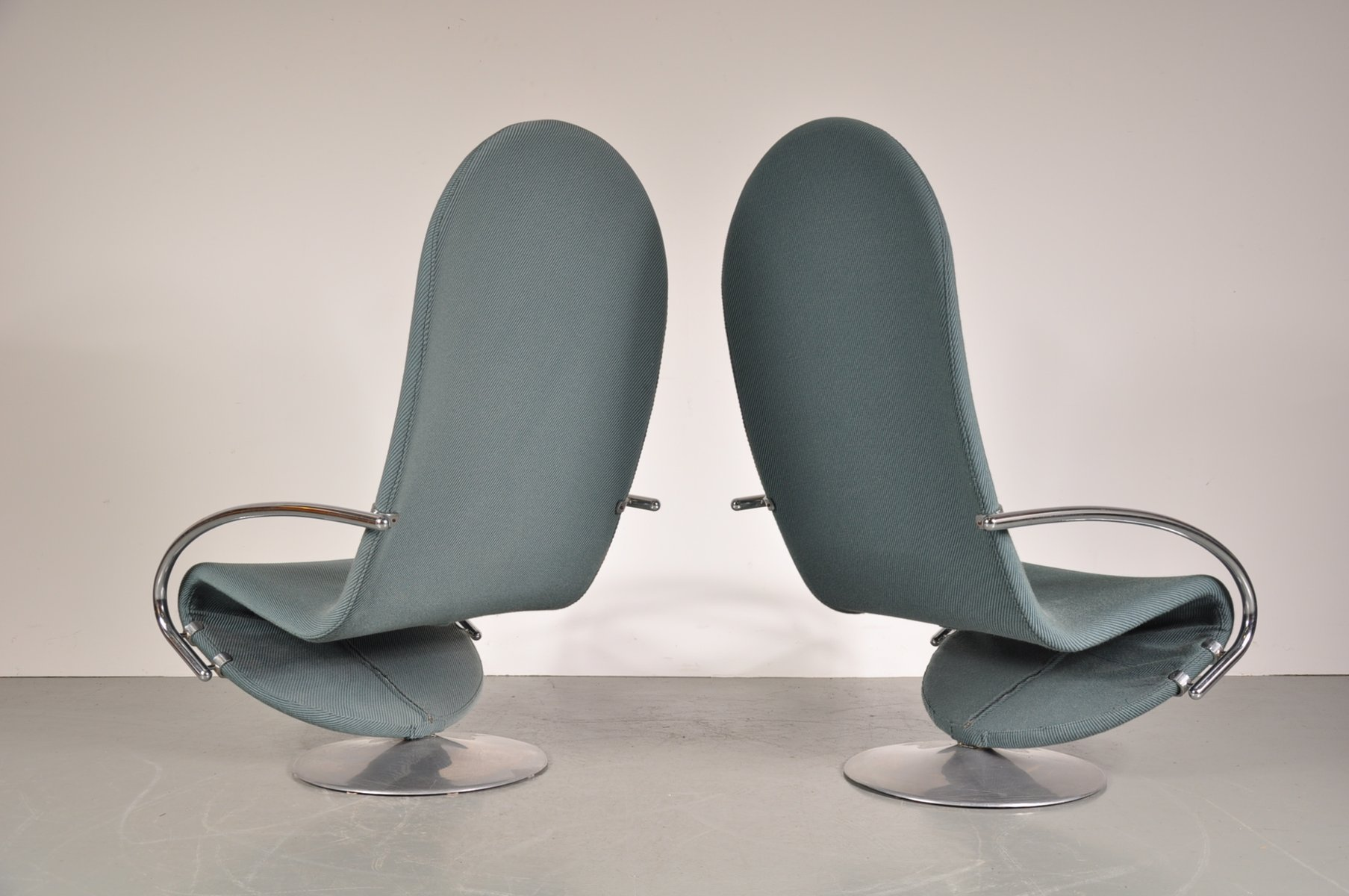 1 2 3 sessel von verner panton f r fritz hansen 1970er 2er set bei pamono kaufen. Black Bedroom Furniture Sets. Home Design Ideas