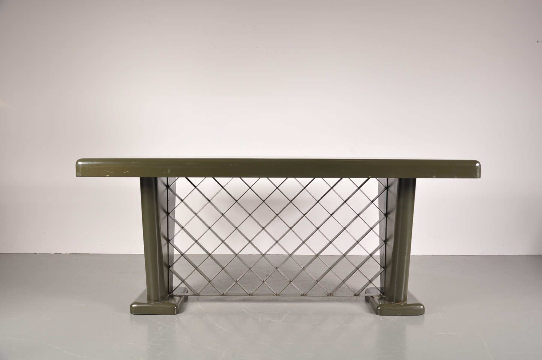 German Art Deco Metal Table 1930s