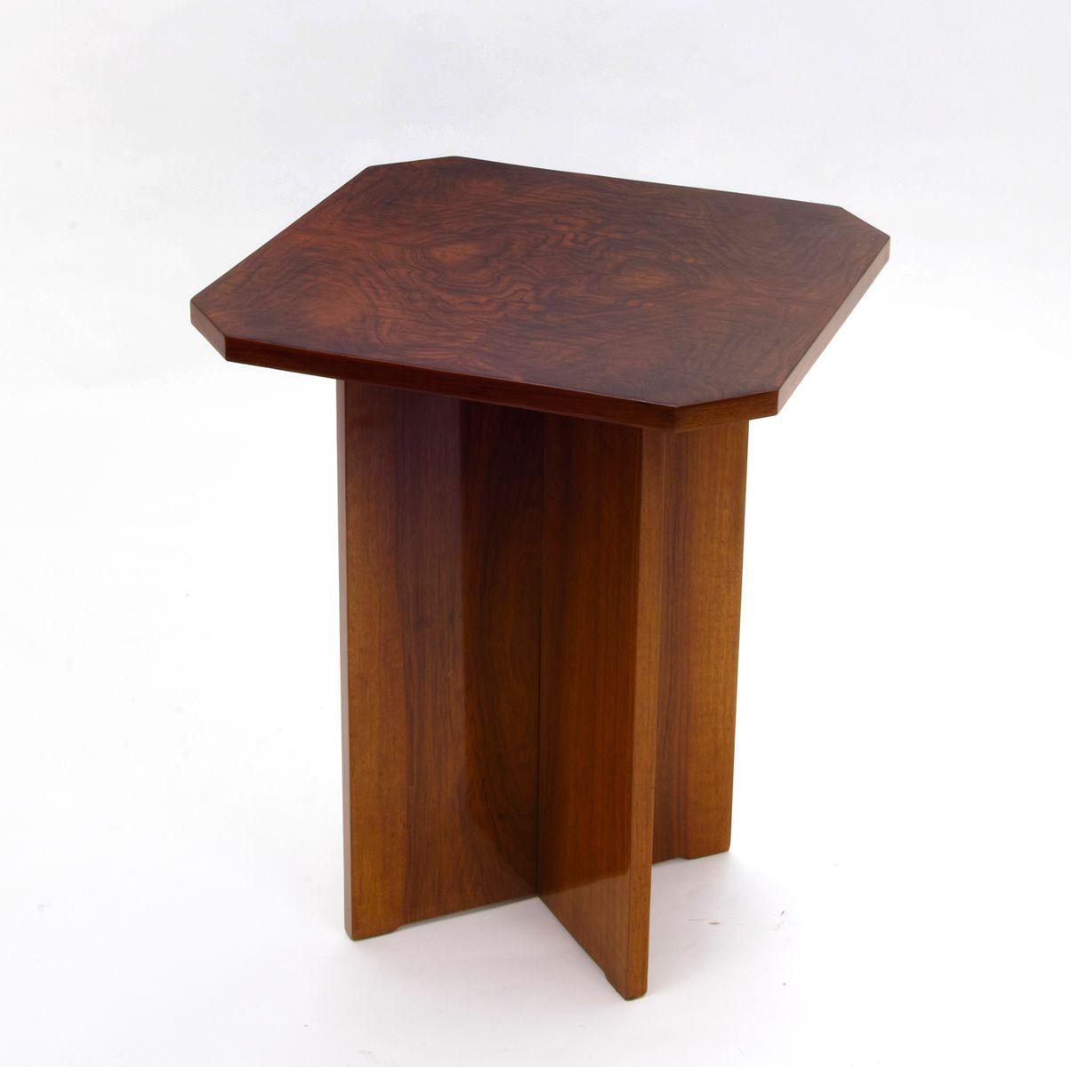 art deco beistelltisch mit x gestell 1930er bei pamono kaufen. Black Bedroom Furniture Sets. Home Design Ideas