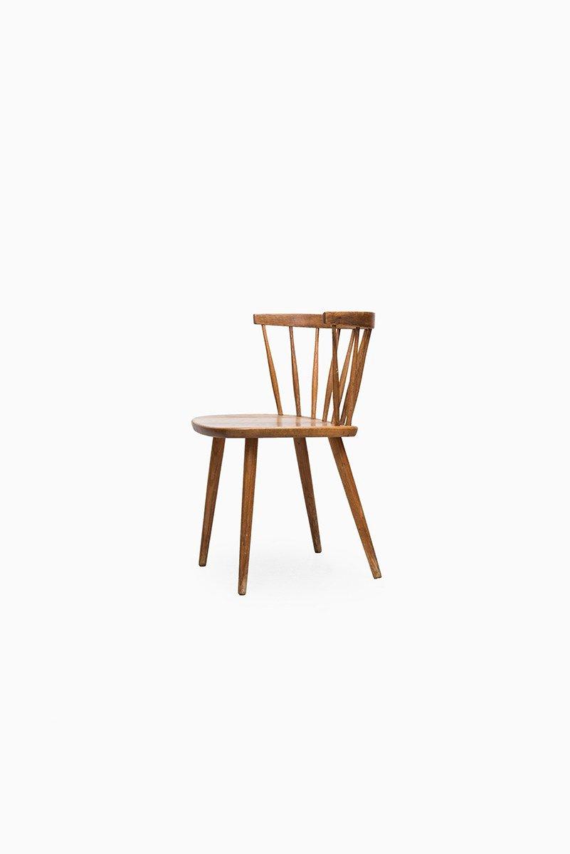 Sessel aus Eichenholz von Yngve Ekström für Stolab