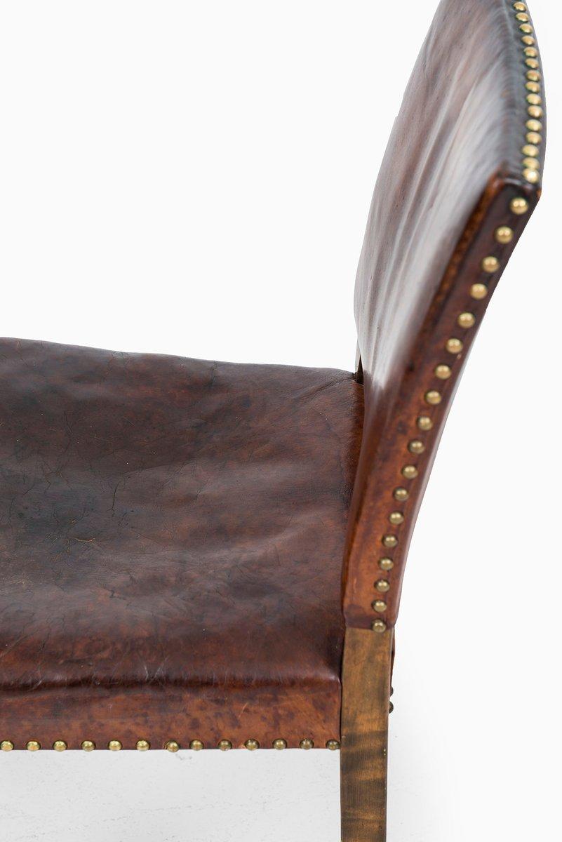 chaise d 39 appoint art d co en cuir en vente sur pamono. Black Bedroom Furniture Sets. Home Design Ideas