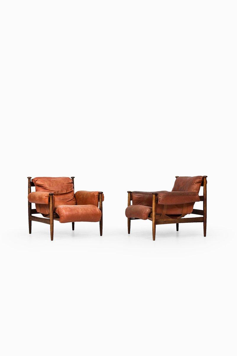 Mid-Century Sessel mit Fußhocker von Eric Merthen, 3er Set