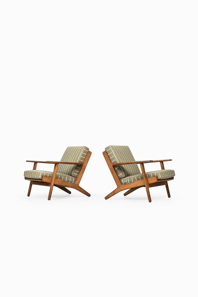 ge 290 sessel von hans wegner f r getama 2er set bei pamono kaufen. Black Bedroom Furniture Sets. Home Design Ideas